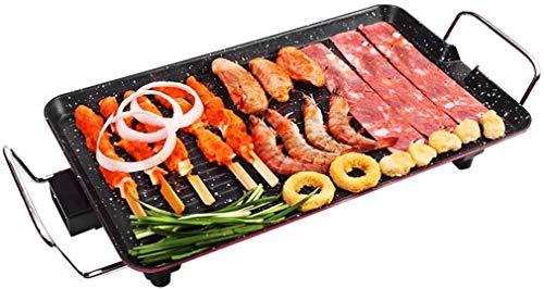 TAIDENG Barbacoa eléctrica Placa de Parrillas sin Humo, sin Palanca de Barbacoa Multifuncional Teppanyaki Barbacoa Alta Rendimiento Pan para Hornear Ideal para la Cena Familiar (Size : Medium)