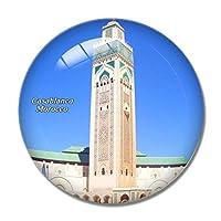 モロッコハッサン2世モスクカサブランカ冷蔵庫マグネットホワイトボードマグネットオフィスキッチンデコレーション