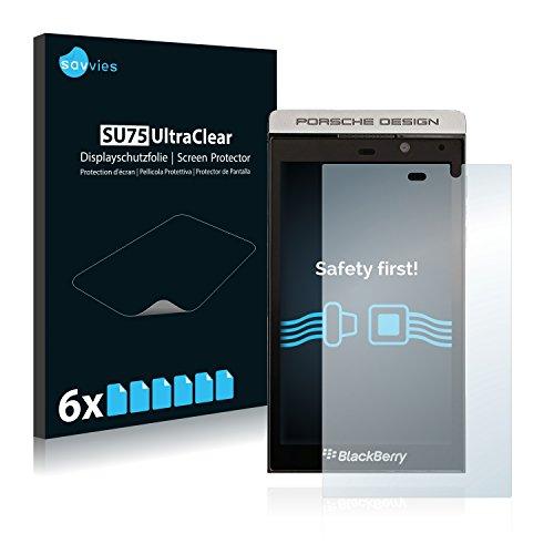 Savvies 6X Schutzfolie kompatibel mit BlackBerry P9982 Porsche Design Bildschirmschutz-Folie Ultra-transparent