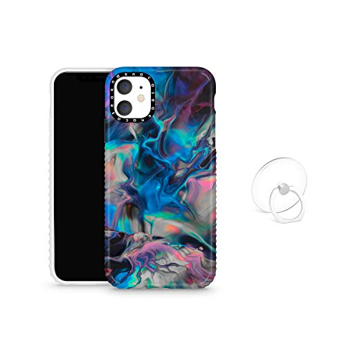 iPhone 11 Case Watercolor with Ring Holder Finger Kickstand, Akna Cat Series High Impact Silicon Cover for iPhone 11 (Design #102405-US)