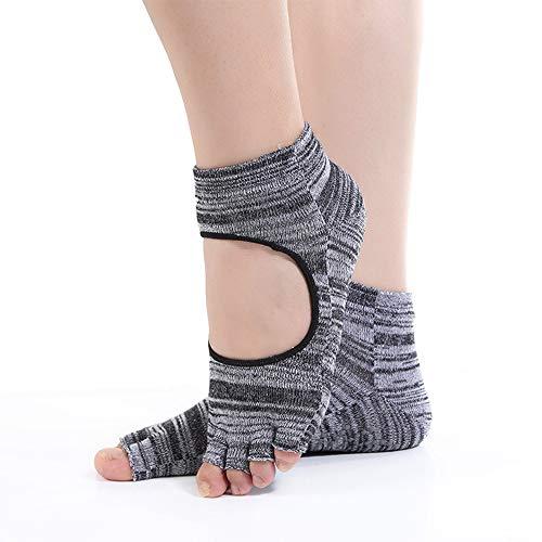 CAMORNY Yoga Sokken Dames Antislip Yoga Sokken Ballet Pilates Fitness Trampoline Antislip Grip Sokken Geen teen Half Body Sokken 4 paar
