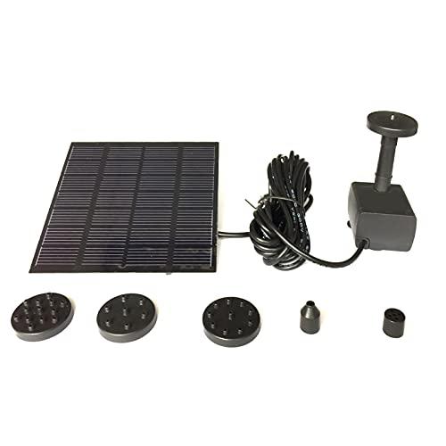 6V 1.2W Bürstenlose Wasserpumpe Solarpumpe Solar Wasserspiel Springbrunnen Fontäne Pumpe für Gartenteich oder Springbrunnen