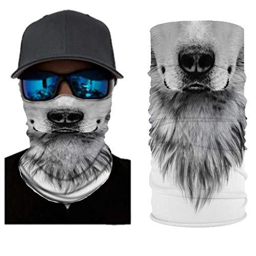 MOTOCO Face Shields Bedrucktes Multifunktionstuch Damen Herren Elastische Halstuch Nahtlose Schlauchtuch UV Schutz für Yoga Radfahren Motorradfahren(25X50CM.J)