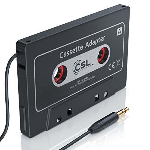HQ Autoradio Kassettenadapter AUX - KFZ Autoradio KFZ Kassenadapter - Car Audio Cassette Adapter - 3,5 mm Klinkenbuchse - für iPod, iPhone, Discman, mp3, CD, Handys, Smartphones