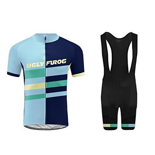 Uglyfrog 2018-2019 Bike Wear Estilos Calientes y Recientes Ciclismo Mujers Maillots Sports+Bib Tight Sets Seco y Transpirable de Bicicleta Conjunto de Ropa de Ciclo Jersey de Manga Corta