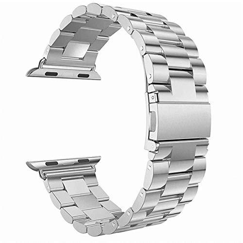 Longzhuo - Correa de Acero Inoxidable con Hebilla clásica para Apple Watch iWatch 38/42 mm iWatch Series 1/2/3