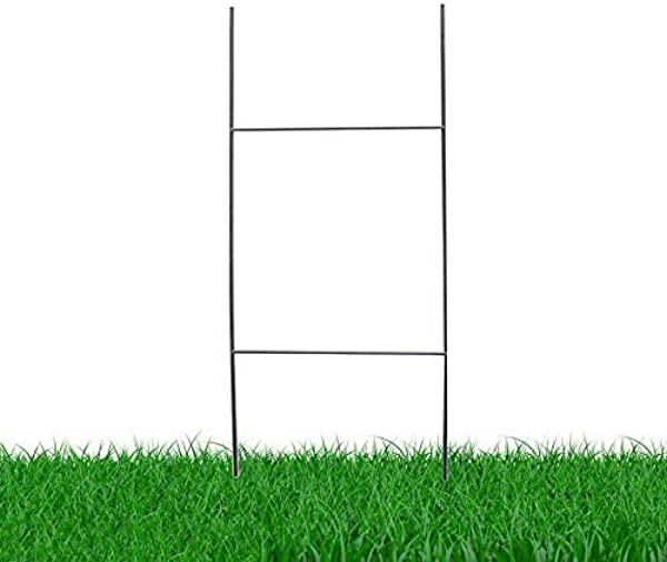 MTB H Frame Wire Stakes 30 X10 Pkg Of 100 9ga Metal Yard Sign Stakes For Advertising Board Realestate Commercial Campaign Yard Stakes For Signs Wire Stakes For Yard Signs