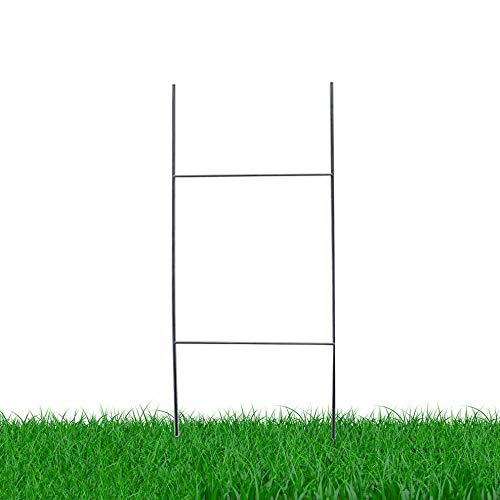 MTB H Frame Wire Stakes 30 x10-inch (Pkg of 25) 9ga Metal -Yard Sign Stakes for Advertising Board,Yard Stakes for Signs