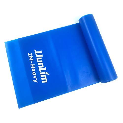 JJunLiM Latex-Free Bande di Resistenza per Il Fitness Bande Elastiche Elastiche Banda di Allenamento per Esercizi per Pilates Yoga, Home Gym Workout o Fisioterapia(Blue)