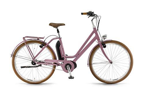 Unbekannt Winora Saya N7 400 Damen Retro Pedelec E-Bike City Fahrrad aubergine lila 2019: Größe: 48cm