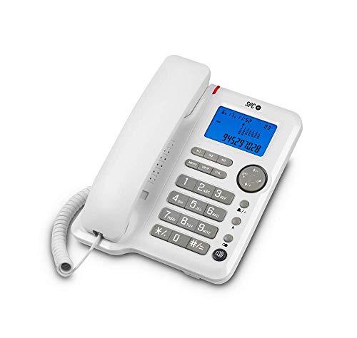SPC Office ID teléfono fijo con 3 memorias directas, identificación de llamadas y manos libres.