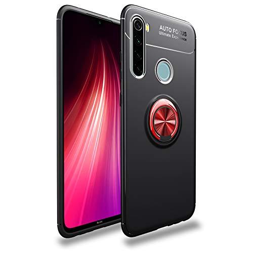 JIAHENG Caja del teléfono Funda Protectora para Xiaomi Redmi Note 8 Caso Soft TPU Funda a Prueba de Golpes 360 Grados Rotación Metal Anillo Magnético Kickstand DISIPACIÓN DE Calor DISTRIBUCIÓN