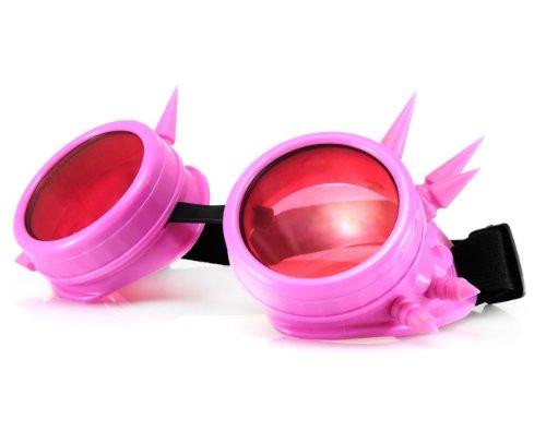 Morefaz Welding Cyber Goggles veiligheidsbril lassen Goth Cosplay Steampunk Cosplay Goth Antique Victorian met spikes Inclusief Free Set Lense Shades UV400 Protection (TM)