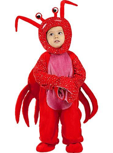 Funidelia | Disfraz de Cangrejo para bebé Talla 0-6 Meses ▶ Animales - Multicolor