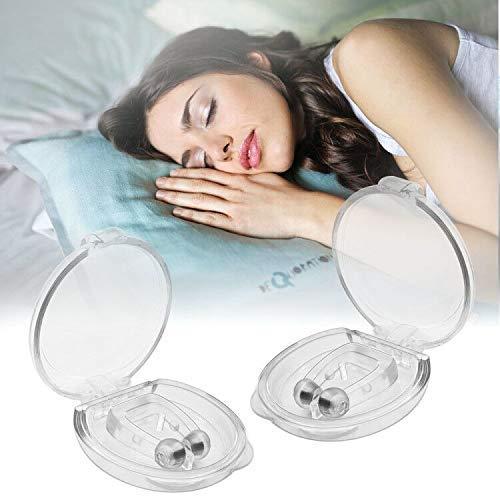 Antironquidos – Juego de 4 pinzas magnéticas para nariz de silicona antirronquidos para una calidad de sueño