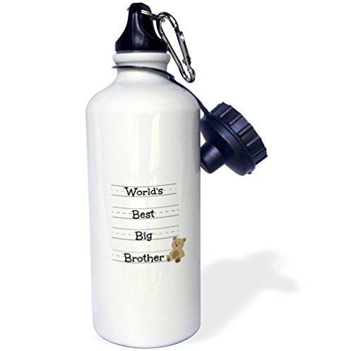 3dRose wb_224272_1 Worlds Best Big Brother-Sport-Trinkflasche, 21 oz, Weiß