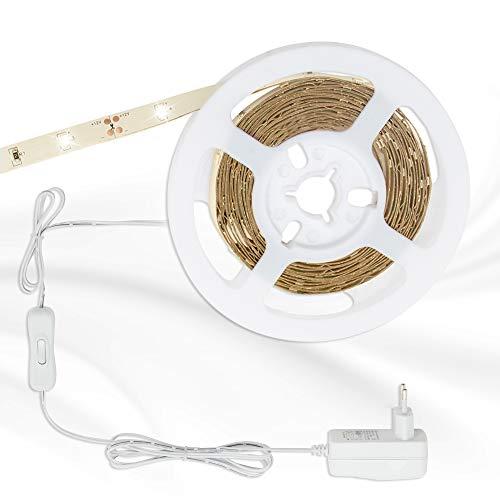 Briloner Leuchten - 3m LED Band, Licht-leiste selbstklebend, 10 W, 90x LED, Kabelschalter, Driver, inklusiv 1,8m Kabel, Lebensdauer: 50.000 Std