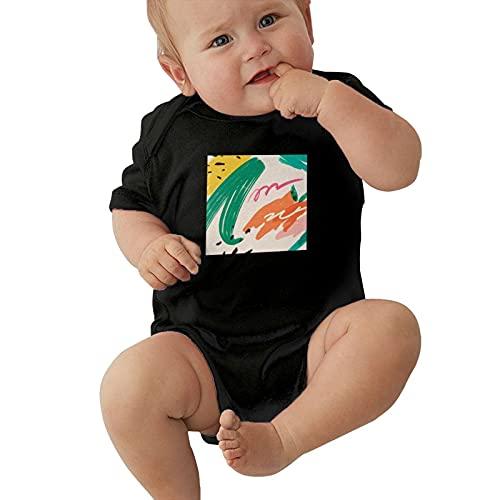 Inaayayi Bebé Onesies Abstracto Fruta Piña Naranja Acuarela Arte Bebé Bodys Bebé Niños y Niñas Infantiles Undershirts Bodysuits