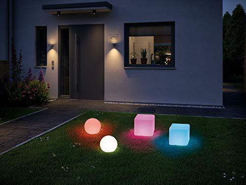Preisvergleich Produktbild Paulmann 94268 Plug & Shine LED Außenleuchte ZigBee Cube RGBW Lichtobjekt incl. 1x2, 8 Watt dimmbar IP67 Tauchwasserschutz Weiß Gartenbeleuchtung Kunststoff Warmweiß 3000 K,  2.8 W