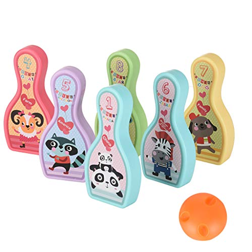 Why Choose Ama-store Bowling Pins Ball Toys Small Plastics Bowling Set Fun Indoor Game with 8 Cartoo...