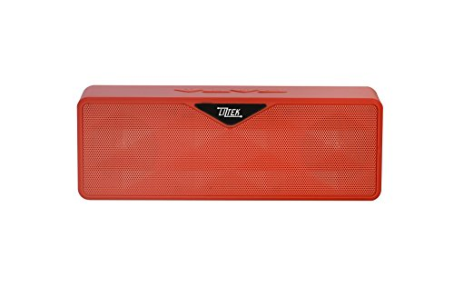 Liztek Ultra-Portable Wireless Bluetooth Speaker,Powerful Sound with build in Microphone, Works for Iphone, Ipad Mini, Ipad 4/3/2, Itouch, Blackberry, Nexus, Samsung and other Smart Phones and Mp3 Players (Red)