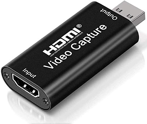 4K HDMI Video Capture Card, Cam Link Card Game Capture Card Audio Capture Adapter HDMI to USB 2.0 Record Capture Device for Streaming, Live Broadcasting, Video Conference, Teaching, Gaming(Black)