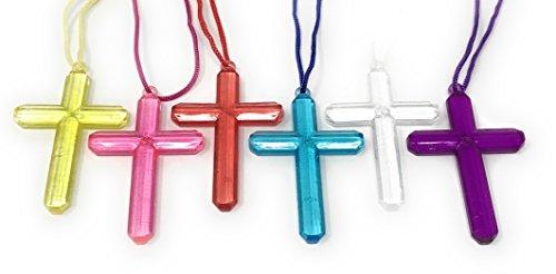 Pingente de cruz de cristal em massa Funiverso 200 - cada cruz em embalagem individual