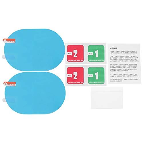 Außenspiegelfolie, Auto Rückspiegel Regenschutzfolie Anti-Fog Regenschutz Aufkleber 100x145mm Oval Blau