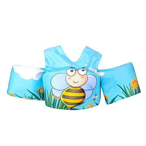 Viewfun Badeanzug-Schwimmhilfe für Kinder,Schwimmhilfe für Kinder und Kleinkinder 2-7Jahre, 15-30 kg, Schwimmgürtel für Jungen und Mädchen (Honigbiene)