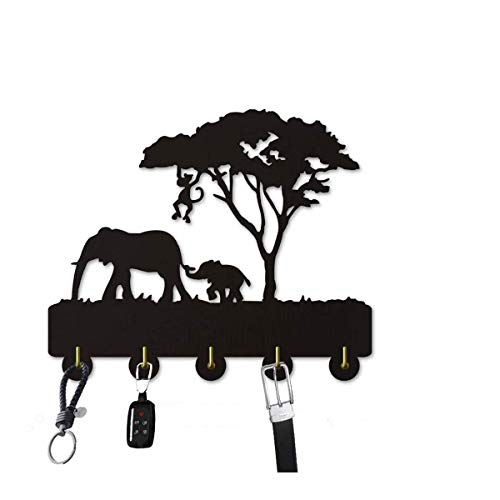 SQINAA decoración de la Pared Ganchos, Elefante Animal Puerta del hogar Decoración Ganchos, Multi-función de Gancho de la Pared Soporte para Llaves, Carteras, Ropa Coat