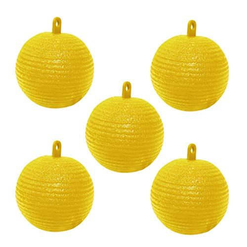 ZJL220 5Pcs Hanging Fly Trap Ball Fruit Fly Catcher Sticky Trap Wasp Insects Killer