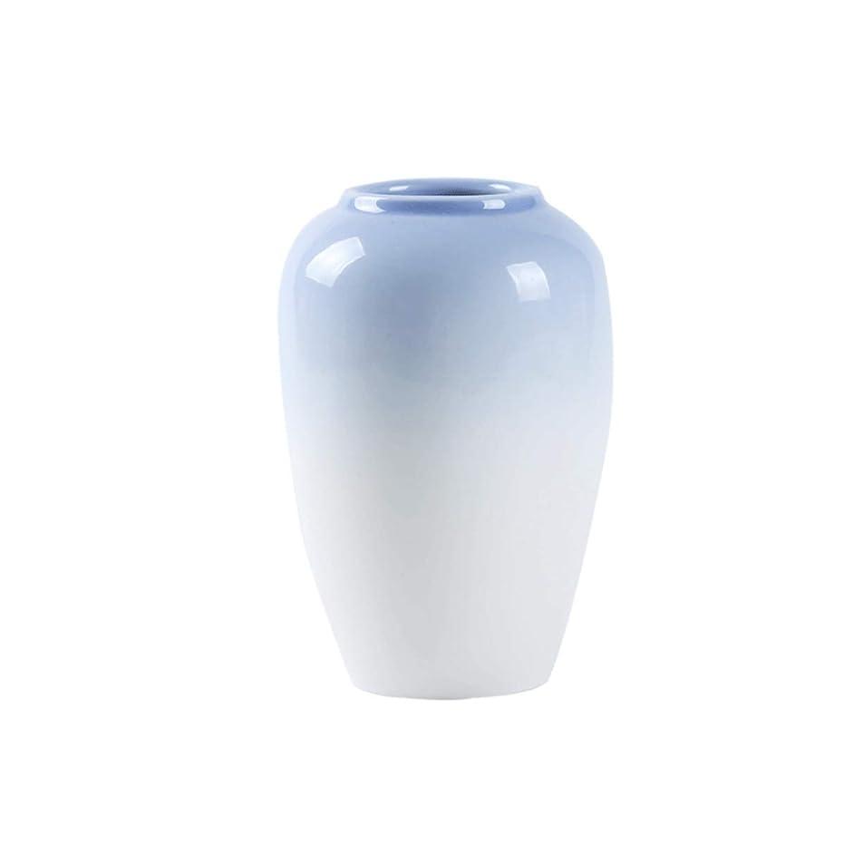 悪化させるボウル眠っている8HAOWENJU 北欧セラミック小さな花瓶リビングルームフラワーアレンジメントホームテーブルの花の水耕花瓶 (Color : Purple)