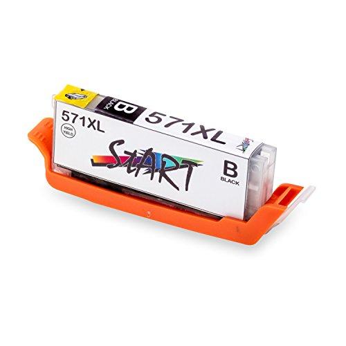 Start - XL Compatible Chip Cartuccia per Canon CLI-571 BK XL Foto Nero
