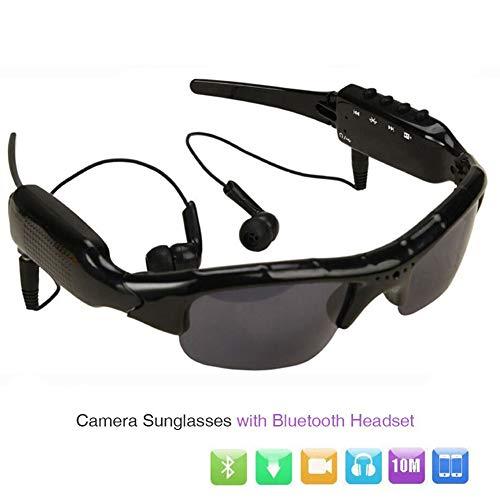 C- Smart Brille Musik Video Recorder DVR DV MP3 1080 P Bluetooth Verbindung Telefon Sonnenbrille Kamera Unterstützung TF-Karte Für Outdoor,with Bluetooth,Add 16GB