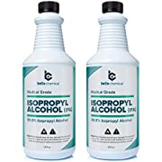 Medical Grade Isopropyl Alcohol 99.9% (32oz) Pack of 2 (2 Bottles (64oz))
