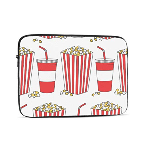 Mac Computer Cover Collection of Popcorn Hand Drawn Macbook Covers Multi-Color & Size Choices10/12/13/15/17 Inch Computer Tablet Briefcase Carrying Bag