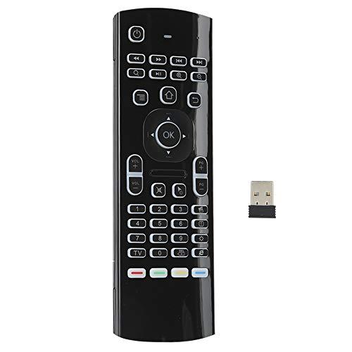Yctze Teclado de Control Remoto inalámbrico, Control Remoto Air Mouse 2.4G, sensores de Movimiento, Control Remoto de TV