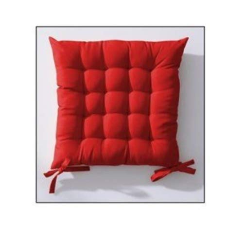 TODAY 261201 Gepolstertes Sitzkissen, Polyester, 40 x 40 cm, Polyester, Pomme d'amour/Rouge, 40x40x2 cm