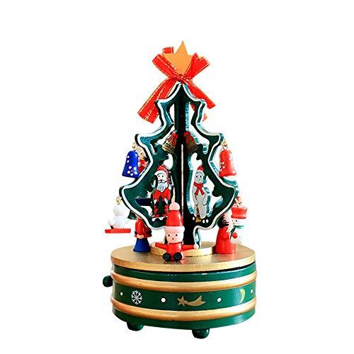 AJMINI kerstboom muziekdoos, gesneden muzikale doos voor kinderen, vrienden