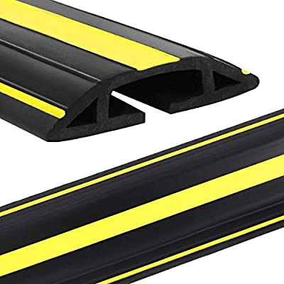 Eapele Cable Protector Cord Cover for Floor,Heavy Duty PVC Duct Easy to Unroll,Prevent Trip Hazard for Home Office or Outdoor Settings