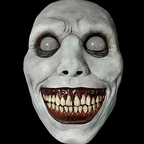 Creepy & Scary Halloween Mask - Smiling Demons, Realistic Evil Devil Cosplay Halloween Props, Horror Halloween Costumes
