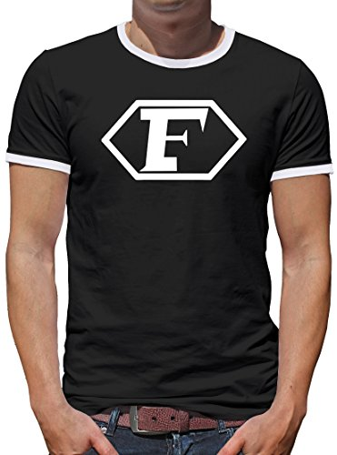 TShirt-People Captain Future Logo Kontrast T-Shirt Herren M Schwarz