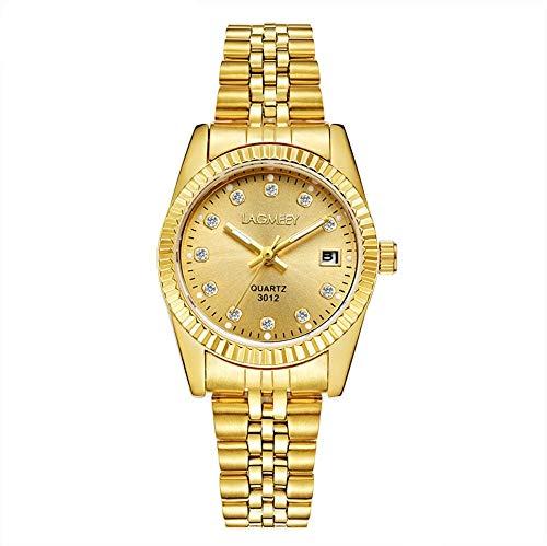 Smartwatches,Tuhao-Goldpaar-Uhr wasserdichte Golduhr-Mode-Uhr Volles Goldgesicht Der Frauen