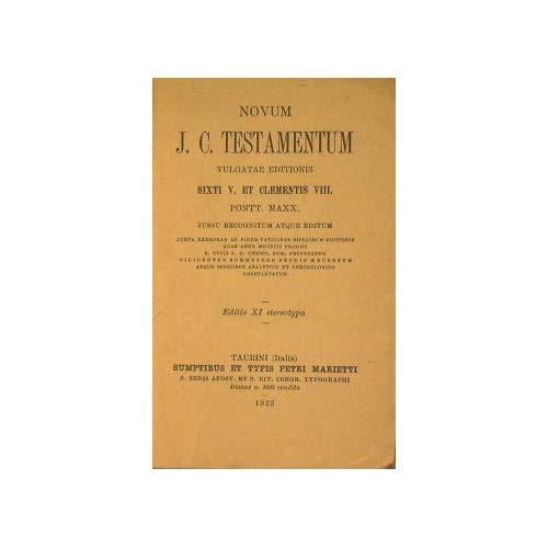 Novum J. C. Testamentum : Vulgate editionissixti V. et Clementis VIII Pontt. Maxx