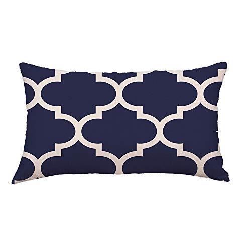 Aiserkly Federa per cuscino rettangolare con linee geometriche per divano, letto, decorazione per la casa, 30 cm x 50 cm, Multicolor-a, 30cm*50cm/12*20'