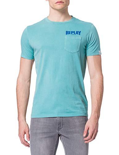 REPLAY M3408 Camiseta, 488, L para Hombre