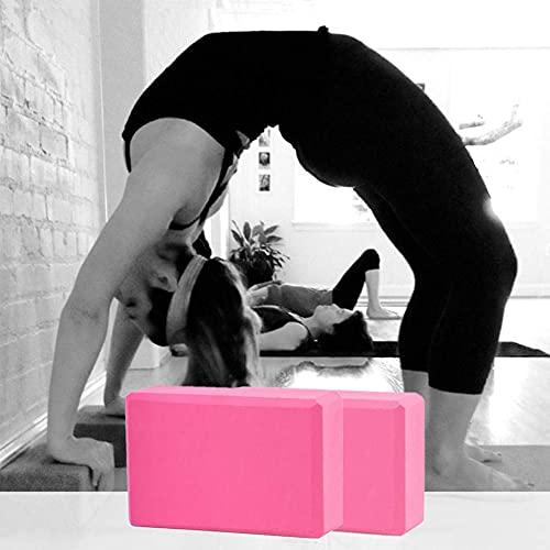 DealMux Yoga Block Yoga Klotz Yoga Bloques de soporte Bloques de Pilates Bloque de yoga Bloques de espuma de espuma Kit de inicio de yoga Soporte Profundizar para yoga