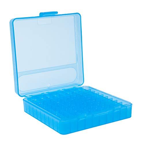 Nomis Caja de cartuchos para 100 cartuchos – 9 mm, 380 ACP, 30 Luger, 9 mm Makarov + más
