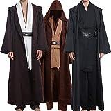 Wecos Adult Halloween Jedi Robe Costume Tunic Brown Cloak Medium