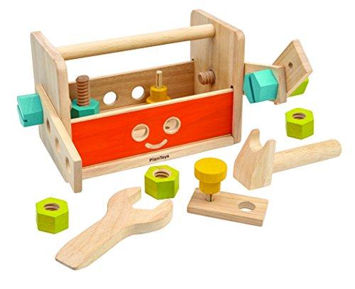 PlanToys- Robot Tool Box, PT5540, Bois